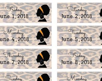 Planner Stickers June 2018