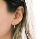 Siena Climbers 14K Gold-Filled Climbers, Gold Climber Earrings, Gold Filled Climber, 14K Climber, Minimalist Climbers, Hammered Climber