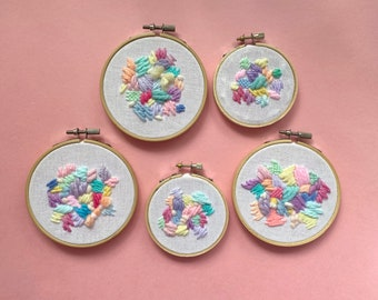 Abstract Stitched Hoop Art