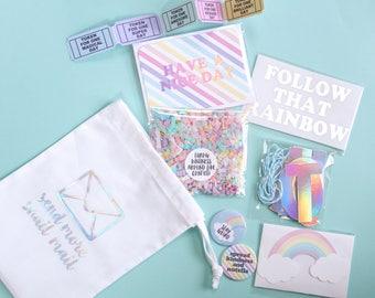 Rainbow Snail Mail Kit