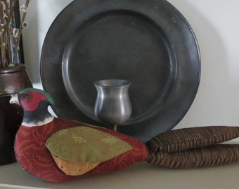 Primitive Folk Art Pheasant Bird Doll