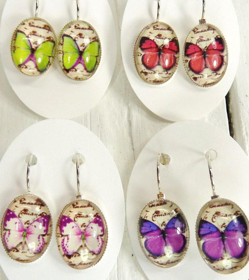 4 Pairs Butterfly Earrings Lot Earrings Wholesale Earrings Butterfly Jewelry Earring Gifts Party Favors Shower Favors Office Gifts