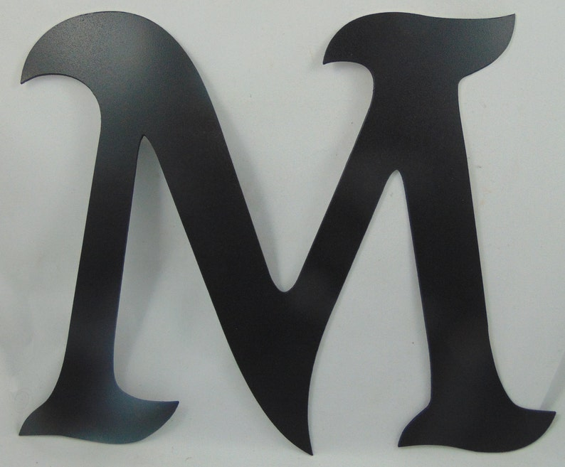 You Want 12 Custom Cut Metal Alphabet Letter Mikadan Font or Letters You Pick Which Letter