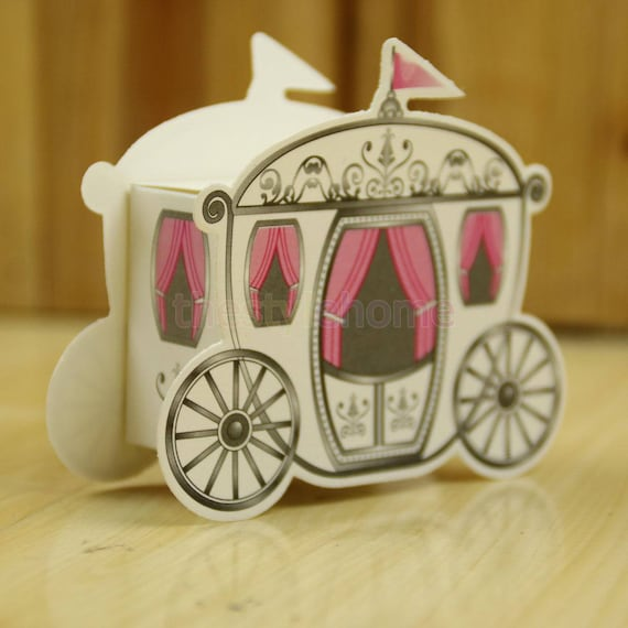 princess pumpkin carriage favor boxes princess bridal shower etsy
