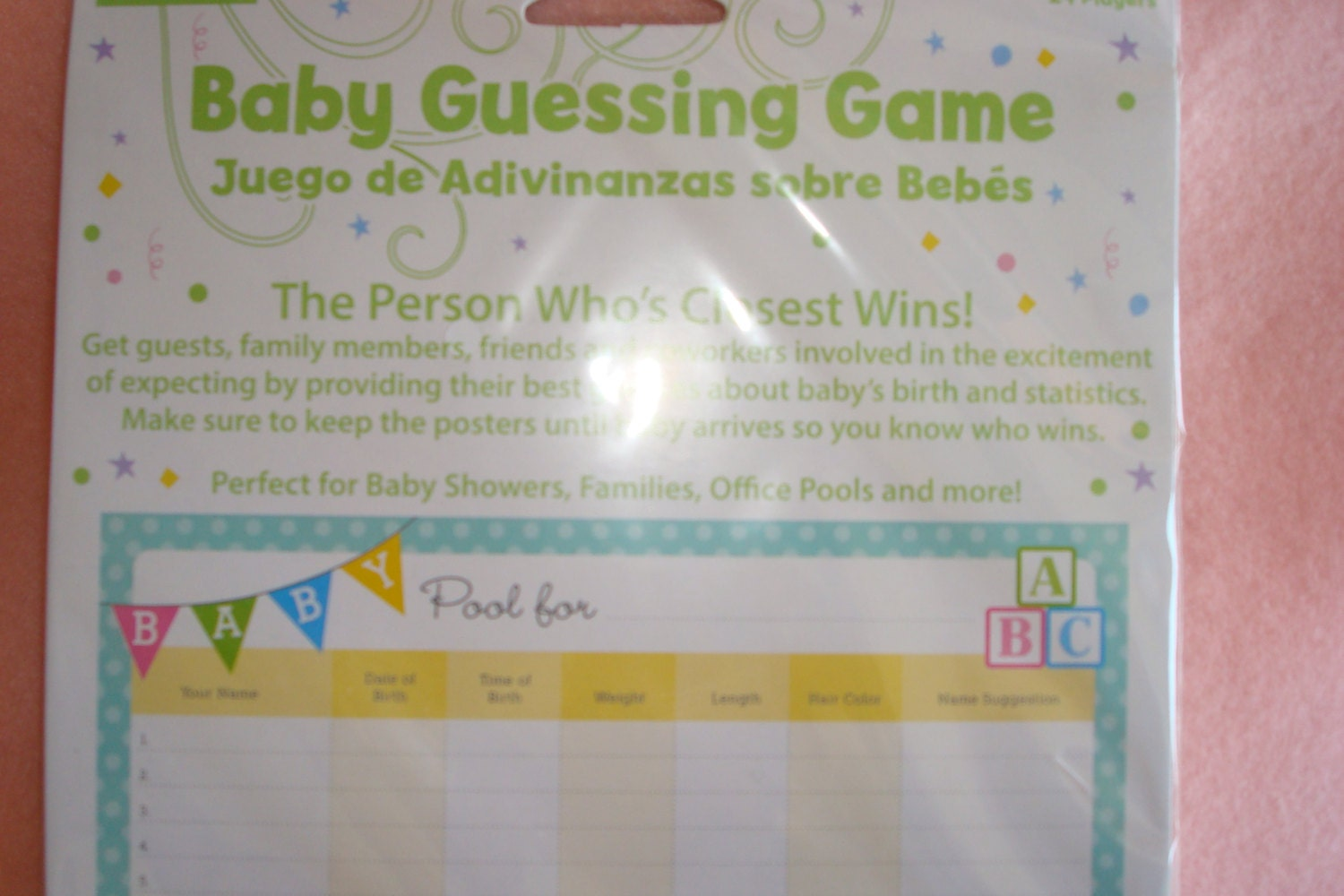 Image Of Baby Shower Pool Game Baby Shower Betting Pool Template