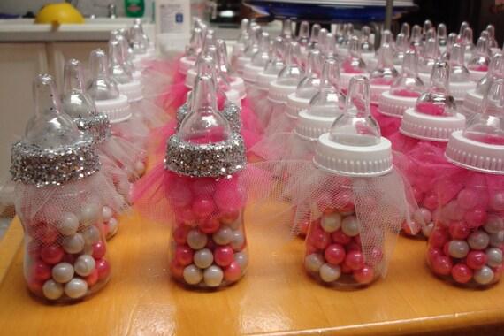 Tutu Baby Bottle Favors Fancy Baby Shower Favors Ballerina Etsy