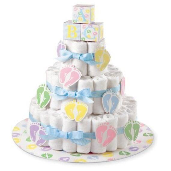 Wilton Windel Kuchen Kit Baby Shower Mittelstuck Windel Kuchen Etsy
