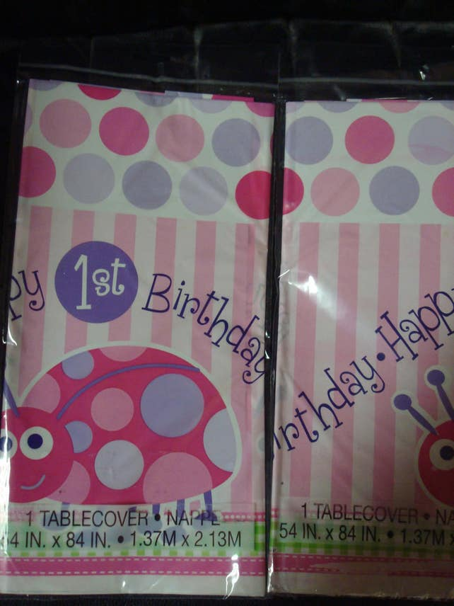 Ladybug Theme 1st Birthday Party Tablecloth Little Lady Table Decorations Tablecover