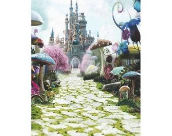 Alice In Wonderland Scene Setter; Mad Hatter Scene Setter; Alice in Wonderland Photo Prop; Alice in Wonderland Baby Shower Decor; birthday
