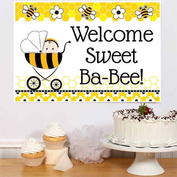 Welcome Sweet Ba-Bee Theme Baby Shower Bumble Bee Baby Shower