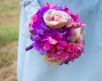 Clearance! Pink, Blush and Purple Bouquet  ( Great Keepsake Item )
