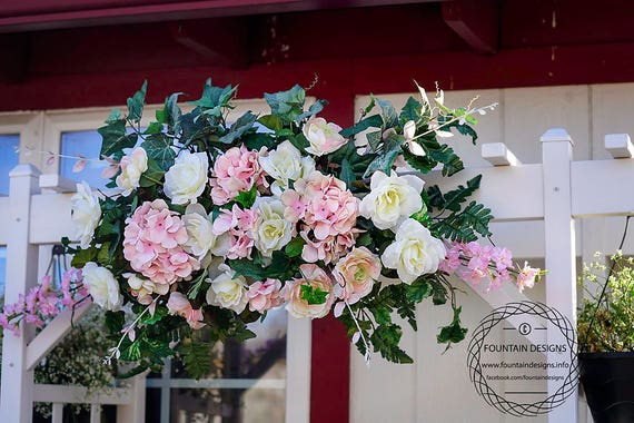 Blush pink and ivory white flower arch etsy image 0 mightylinksfo