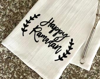 Happy Ramadan Kitchen Towel   Tea Towel   Funny Towels   Eid Towel   Ramadan Gift   Ramadan Decor