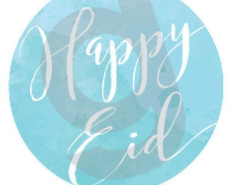 Printable Happy Eid stickers / tags / cupcake toppers