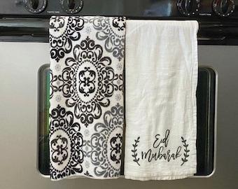 Eid Mubarak Kitchen Towel   Tea Towel   Funny Towels   Eid Towel   Eid GIft   Eid Decor   Ramadan Decor
