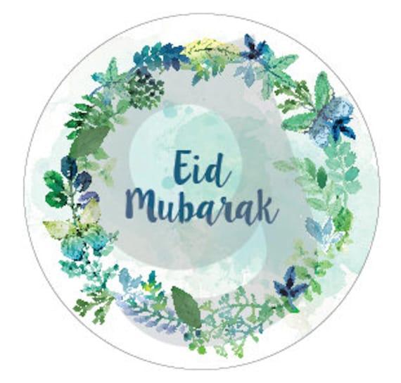 Eid Mubarak Stickers: Items Similar To Printable Eid Mubarak Floral Stickers
