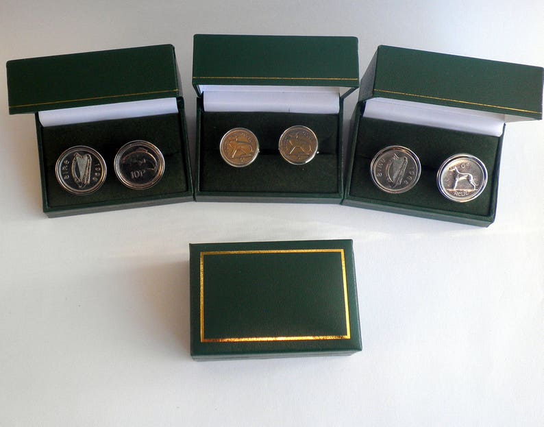 GroomsMan Gift Check with me for available dates and styles Set of 3 coin Cufflinks