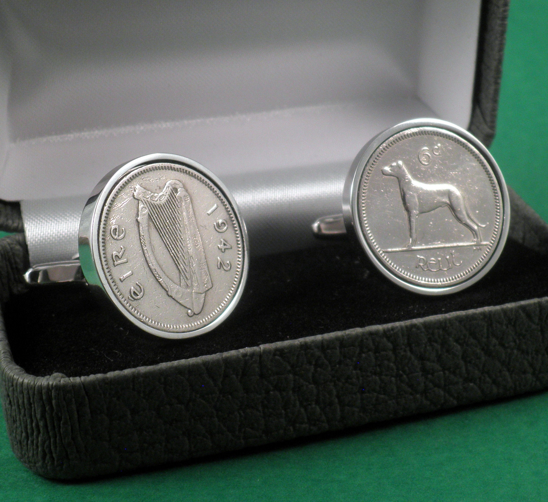 1955 Irish Coin Cufflinks 64th Birthday
