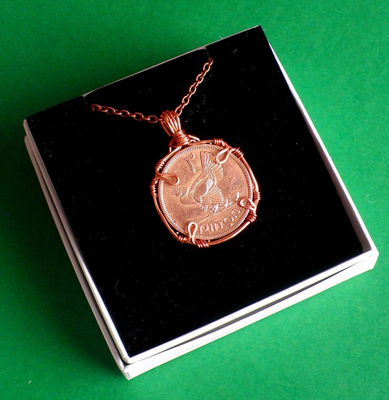70th Birthday Present Ireland 1949 Irish Coin Penny Coin Hen Chicks Celtic Harp