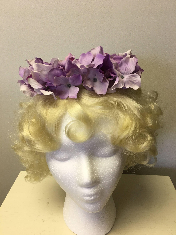 Flower Crown Lavender Silk Flower Hair Wreath For Renaissance Etsy