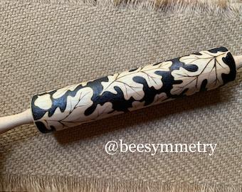 Woodburned rolling pin