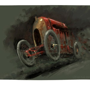 Fiat S76 The Beast Of Turin Limited Edition Art Etsy
