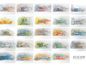 Auto Art Advent 2011 -  Limited Edition Art Print