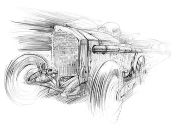1914 GP Mercedes - Goodwood Festival of Speed Print