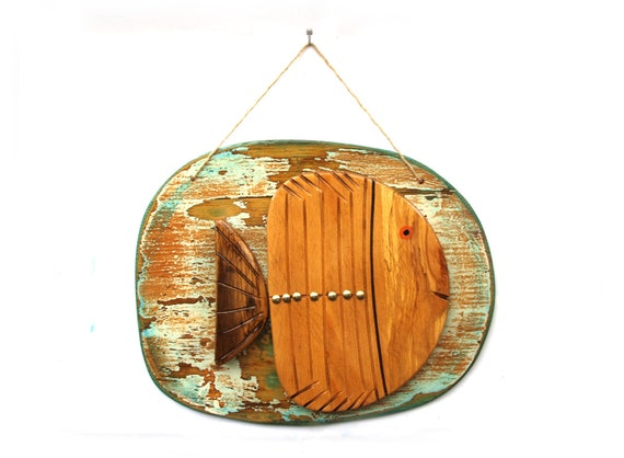 Large Wooden Fish Wall Decor from i.etsystatic.com