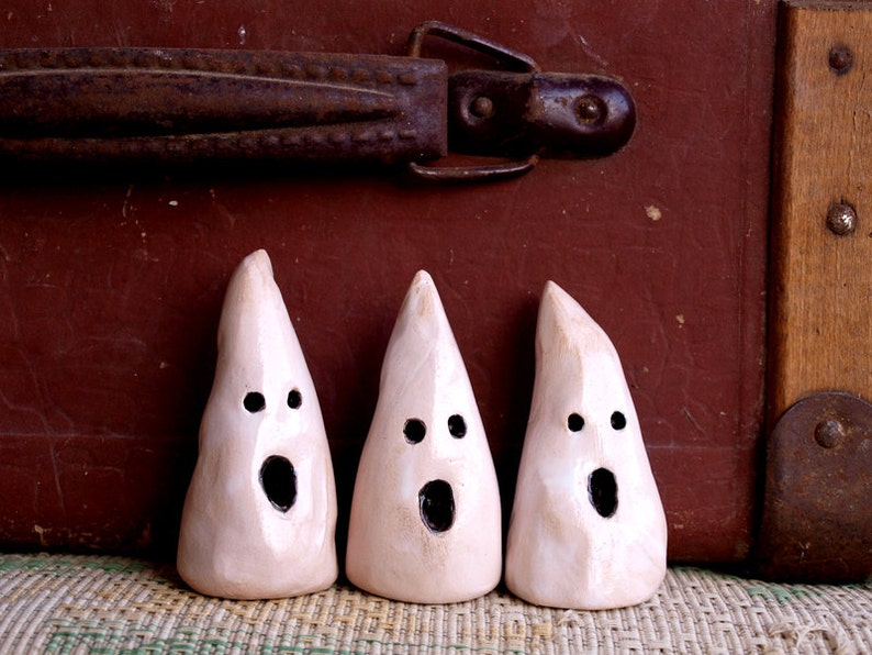 Ceramic ghosts Set mini ghost Ghosts Halloween Décor Ghost image 1
