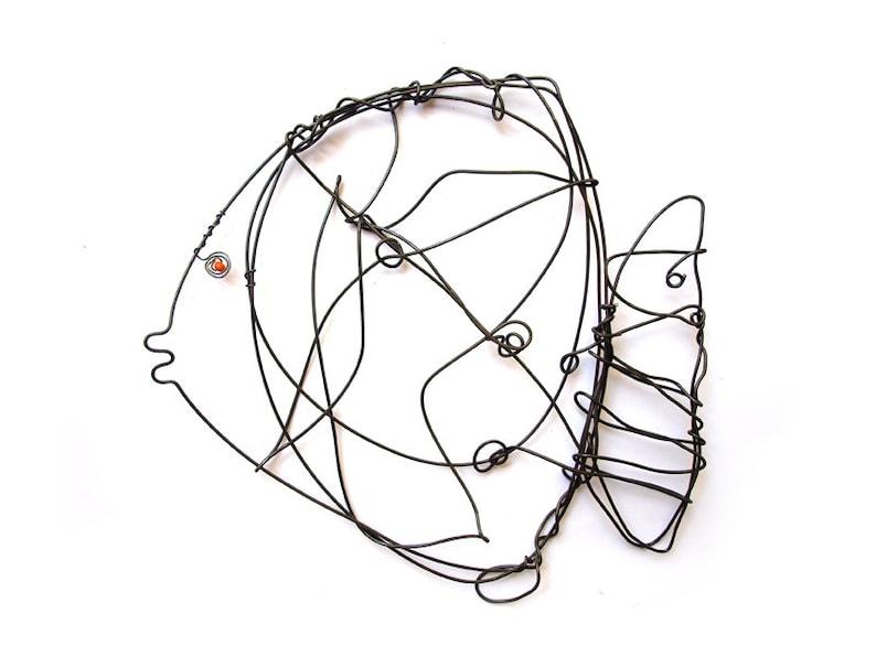 Fish Wire Art Wire Fish Wire Animal Fish Home Decor Black