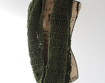 Oversized Chunky Circle Scarf - Forest