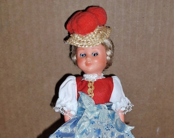 Vintage 1960s 70s German Doll with Movable Eyes Arms Legs Keepsake Collectible