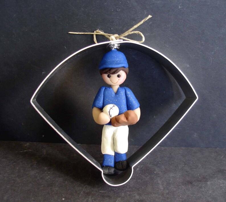 Baseball Softball Christmas Ornament Ball Diamond Pitcher ...