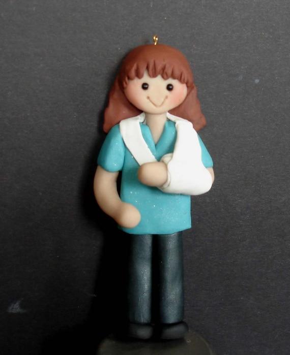 Physical Therapist Christmas Ornament Broken Arm Bone ...