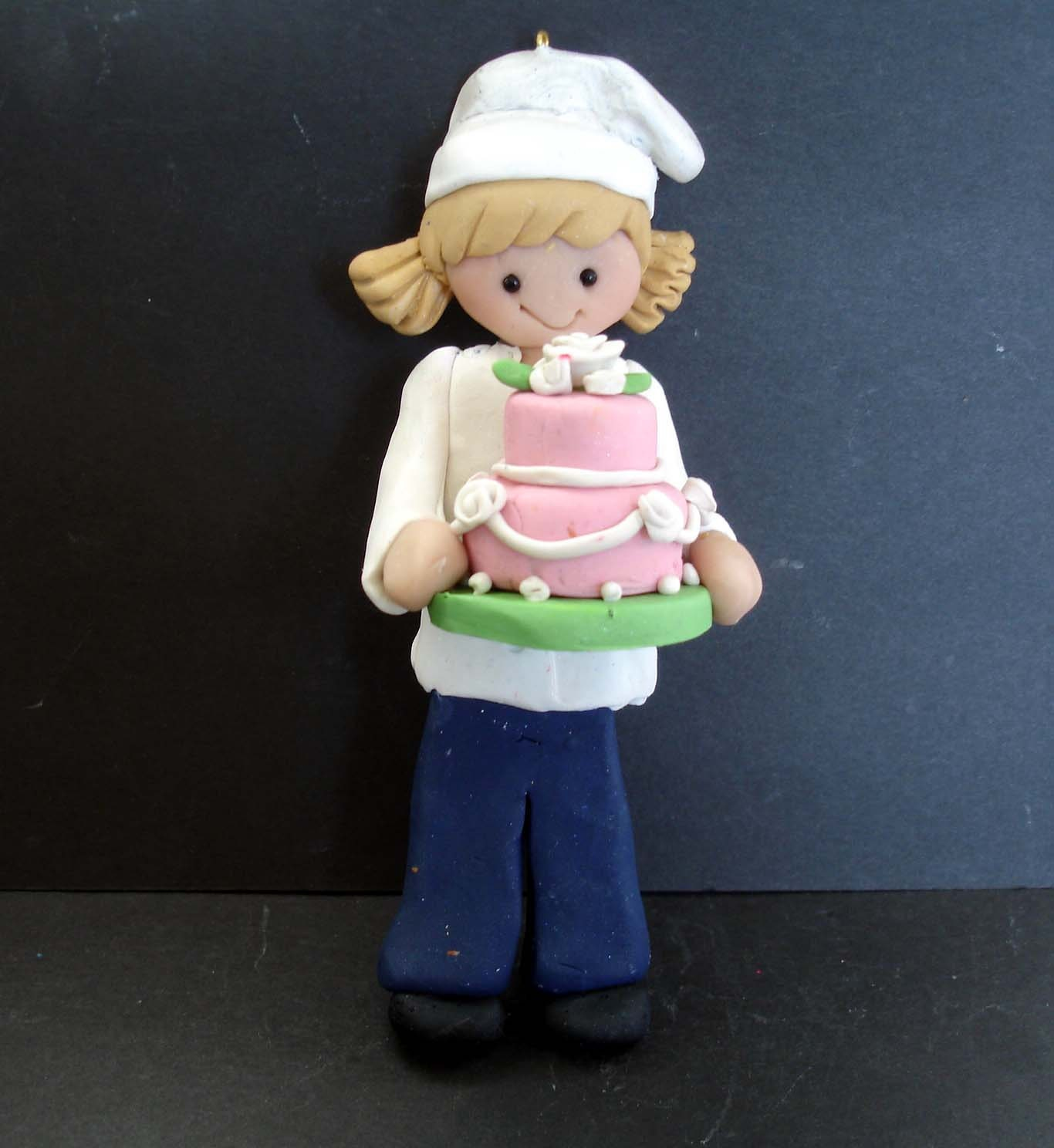 Chef Baker Cake Topper Sous Hat Apron Decorated Tier