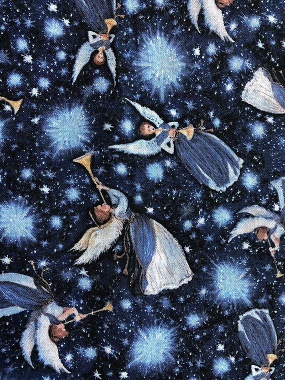 Christmas Angels.Angel Fabric Nativity Xmas Christmas Angels Cotton Fabric Springs Creative Xmas 31