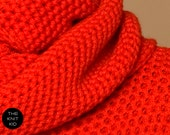 infinity scarf red circle loop snood cowl circle scarf theknitkid THE KNIT KNIT