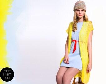 """Strickweste """"Imogen"""" gelb Kid Mohair THE KNIT KID theknitkid Weste Modedesign Fashion Mode Knitwear Berlin Deutschland"""