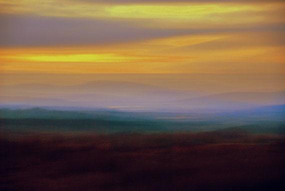 "Blurred romantic Connemara sunset 18"" x 12"""