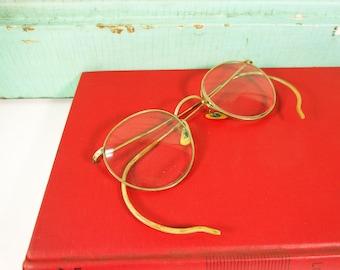 48c38bb57a85 Vintage Artcraft Gold Wire Framed Bifocal Eyeglasses, 12K Gold Filled