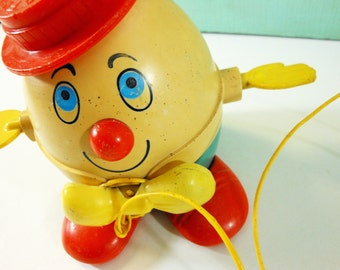 Fisher Price Humpty Dumpty Pull Toy 1972