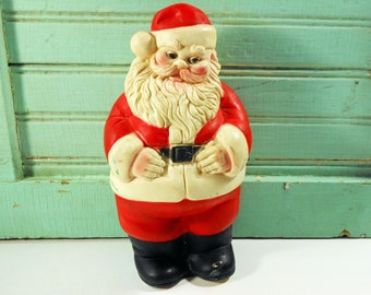 Vintage Santa Claus Squeak Toy Edward Mobley Co. Arrow Rubber and Plastic Corp.