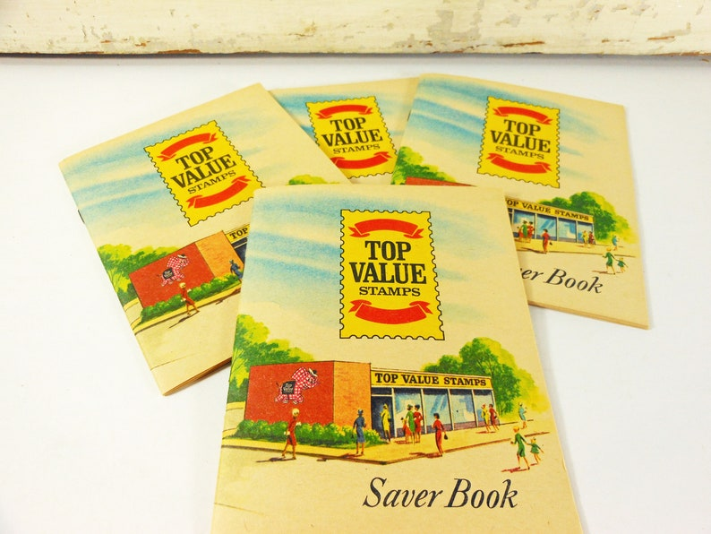 Four 1960s Unfilled Top Value Stamps Saver Books