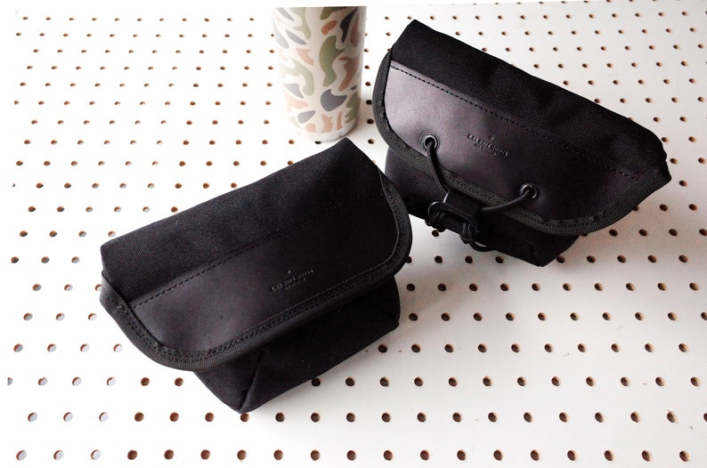 72f6dbaf8161 Cordura Hip Pouch Leather and Cordura Cycling bag