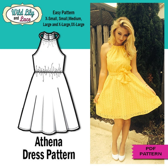 EASY DRESS PATTERN Sundress Sewing Pdf Sewing Pattern Etsy Adorable Sundress Sewing Pattern