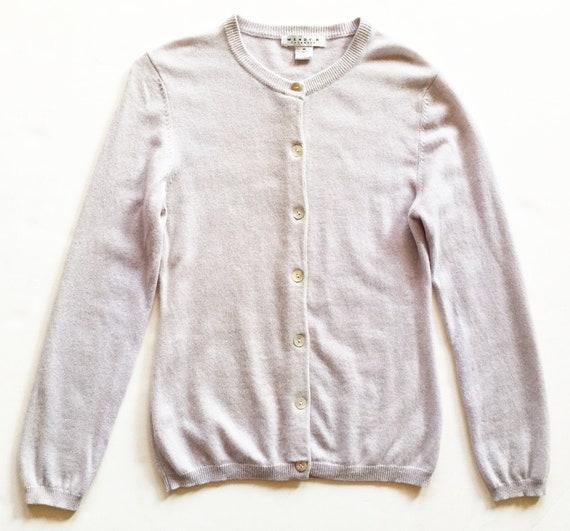 Pale Mauve Long Cashmere Cardigan