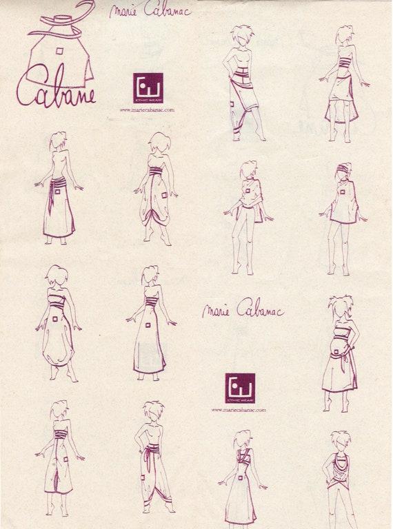 Convertible Dark Red Cotton Knit Dress Marie Caban