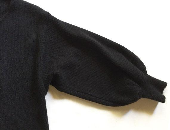 1980s Black Rib Dolman Sleeve Sweater - image 5