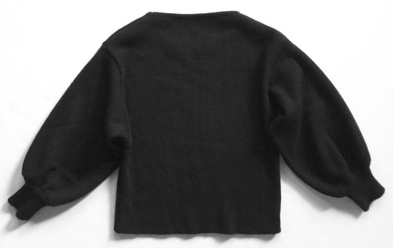 1980s Black Rib Dolman Sleeve Sweater - image 2